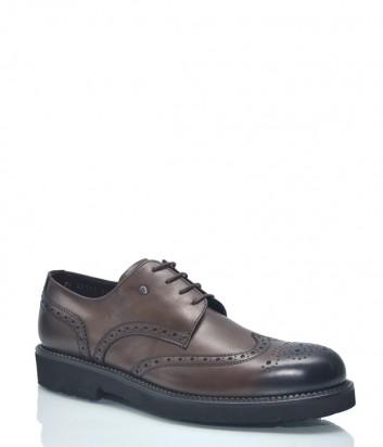Кожаные туфли Roberto Serpentini 8632 с перфорацией коричневые