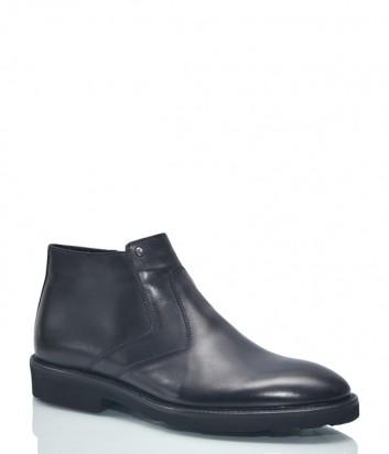 Кожаные ботинки Roberto Serpentini 9314 черные
