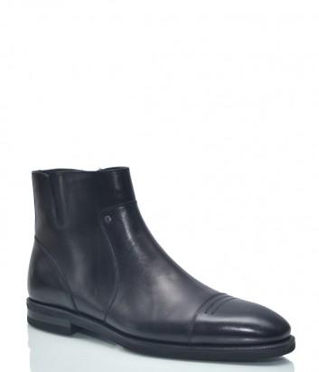 Кожаные мужские ботинки Roberto Serpentini 9313 черные