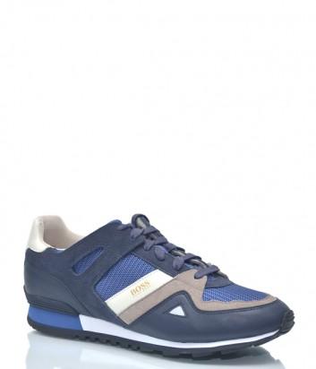 Мужские кроссовки Hugo Boss 9930 комбинированные синие