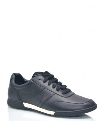 Кожаные кроссовки Hugo Boss 1084 черные