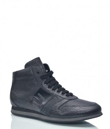 Высокие кожаные кеды ICEBERG 1192 черные