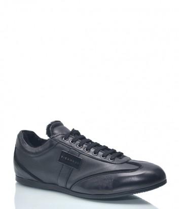 Мужские кожаные кроссовки Richmond 1193 черные
