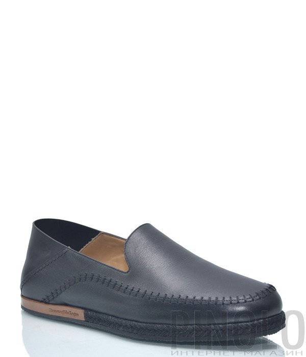 Черные мужские туфли Ermenegildo Zegna 1102 в гладкой коже