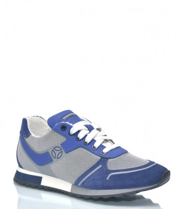 Мужские кроссовки Momo Design 9953 комбинированные серо-синие