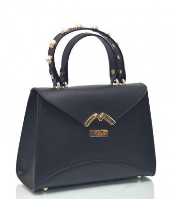 Кожаная сумка BECATO Darla 11610 с декорированной ручкой черная