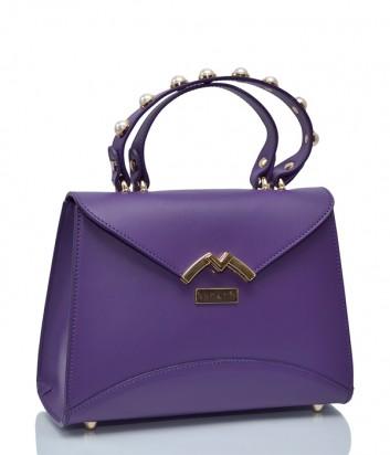 Кожаная сумка BECATO Darla 11610 с декорированной ручкой фиолетовая