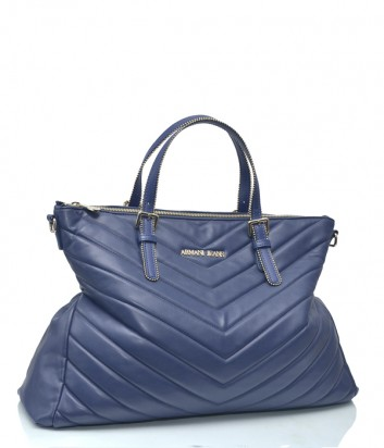 Стеганная сумка Armani Jeans из эко кожи синяя