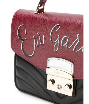 Кожаная сумка Furla Metropolis 977982 комбинированная с надписью