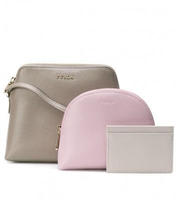 9fe1fbbf55a4 ... Набор матрешка Furla Boheme 985393 серая сумка и две цветные косметички  ...
