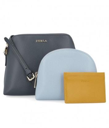 9530cfd99575 ... Набор матрешка Furla Boheme 978539 серая сумка и две цветные косметички  ...