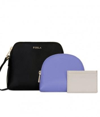 Набор матрешка Furla Boheme 978536 черная сумка и две цветные косметички
