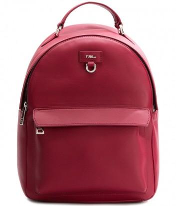 Кожаный рюкзак Furla Favola 978491 с внешним карманом красный