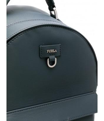 Маленький кожаный рюкзак Furla Favola 998403 с внешним карманом серый