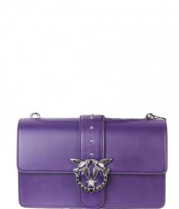 Кожаная сумка Pinko Love Bag 1P2176 фиолетовая
