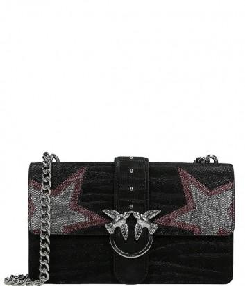 Кожаная сумка Pinko Love Bag 1P218P декорированная звездами