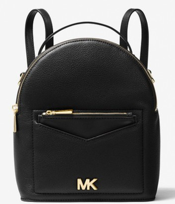 Черная сумка-рюкзак Michael Kors Jessa с внешним карманом