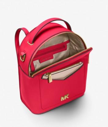 Красная сумка-рюкзак Michael Kors Jessa с внешним карманом