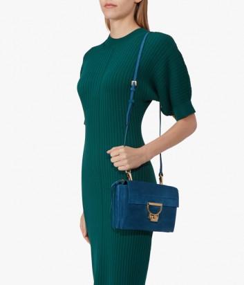 3ee5ae2a183d ... Маленькая замшевая сумка Coccinelle Arlettis с откидным клапаном  изумрудная