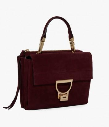 b1aa038c1be6 ... Маленькая замшевая сумка Coccinelle Arlettis с откидным клапаном  бордовая ...