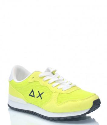 Желтые замшевые кроссовки Sun 1127 с текстильными вставками