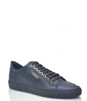 Мужские кожаные кеды ICEBERG 8313 сине-черные