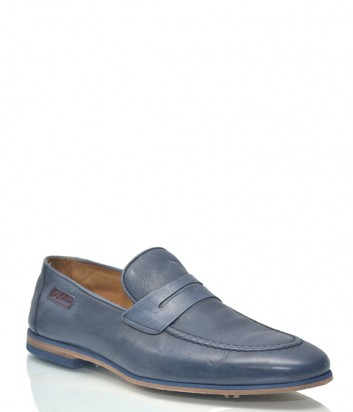 Мужские кожаные лоферы Byblos 1106 синие