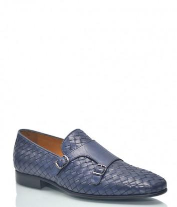Мужские туфли Roberto Serpentini 1099 из плетенной кожи синие