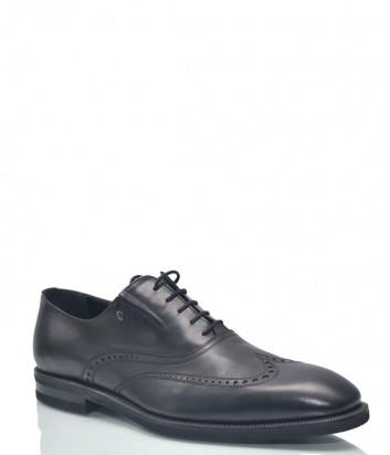 Классические туфли Roberto Serpentini 9422 в гладкой коже черные