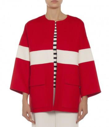 Красное шерстяное P.A.R.O.S.H. Loly с белой полоской
