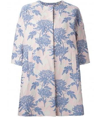 Розовое пальто P.A.R.O.S.H. Pacific с нежно-голубой вышивкой