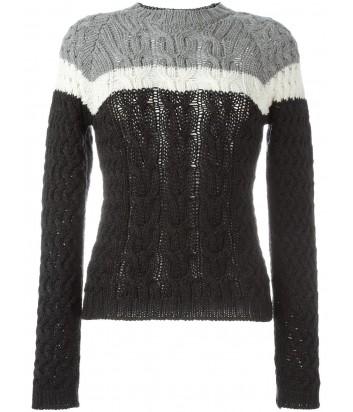 Женский шерстяной свитер P.A.R.O.S.H. Lany черный с полоской