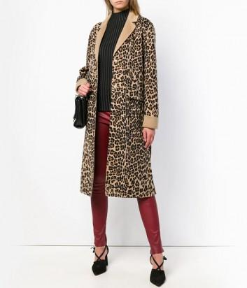 Элегантное женское пальто P.A.R.O.S.H. с леопардовым принтом