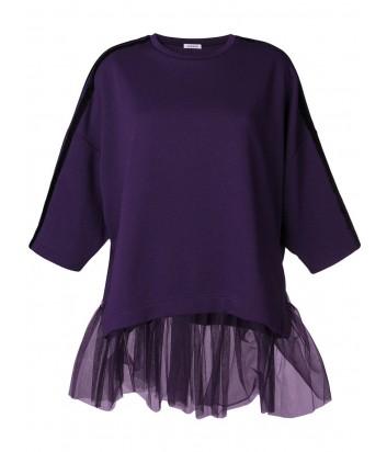 Фиолетовый свитшот P.A.R.O.S.H. Copofely с рукавом три четверти