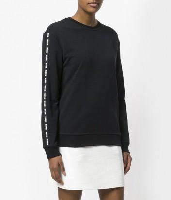 Черный свитшот MSGM с возможностью менять дизайн и форму рукава