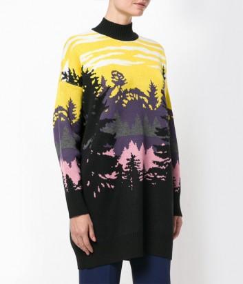 Цветной джемпер MSGM с изображением леса