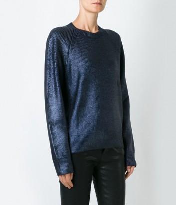 Женский свитер MSGM с синими металлизированными нитками