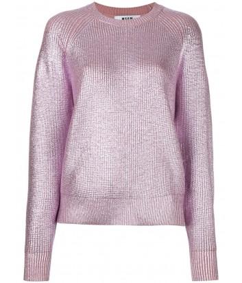 Женский свитер MSGM с лиловыми металлизированными нитками
