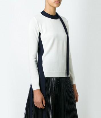 Белый свитер MSGM с контрастными лентами