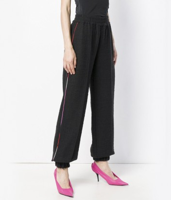 Черные трикотажные штаны MSGM со стрелками