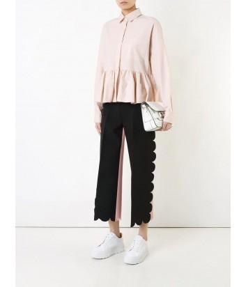 Нежно-розовая рубашка MSGM с воздушным подолом