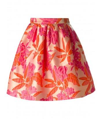 Жаккардовая юбка P.A.R.O.S.H. с цветочной вышивкой