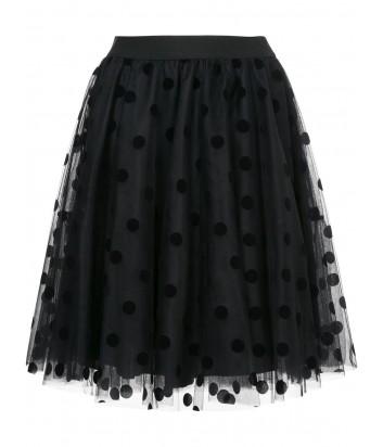 Пышная юбка из тюля P.A.R.O.S.H. черная в горох