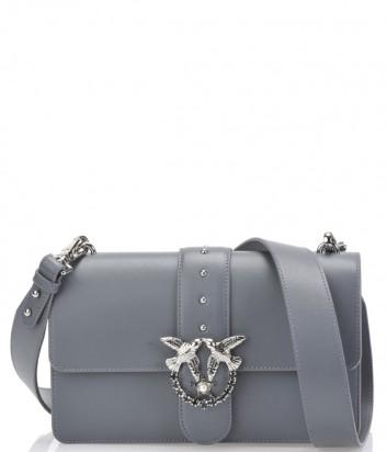 Кожаная сумка Pinko Love Bag 1P2176 серая