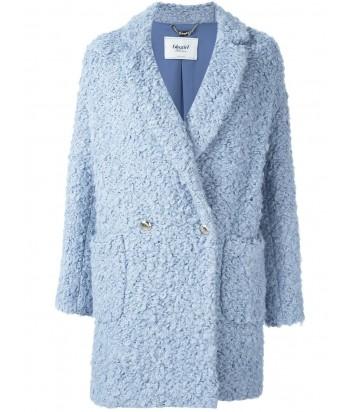 Двубортное пальто из букле BLUGIRL голубое