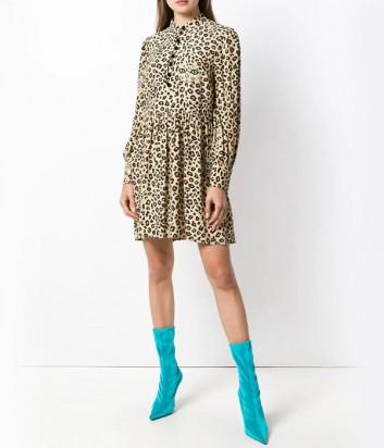 Легкое платье-рубашка Vivetta с леопардовым принтом