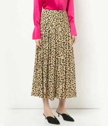 Легкая юбка-миди Vivetta с леопардовым принтом