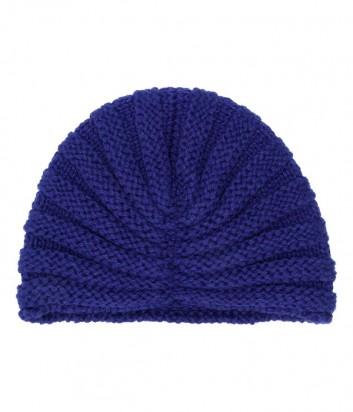 Женская трикотажная шапка-бини P.A.R.O.S.H. синяя
