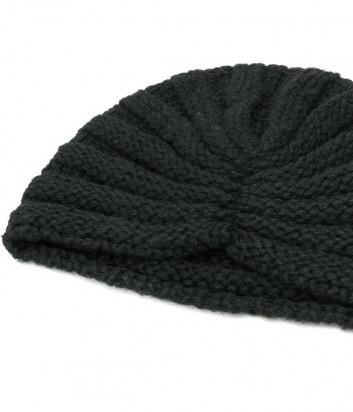 Женская трикотажная шапка-бини P.A.R.O.S.H. черная