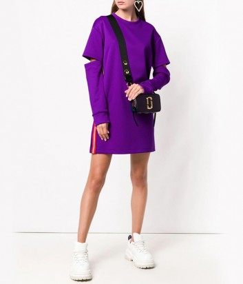 Фиолетовое трикотажное платье PINKO 1B13G1 с разрезами на рукавах